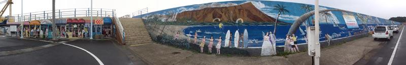 阿久根新港の壁画