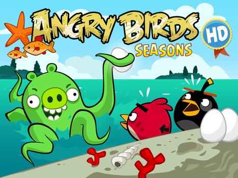 Angry Birds Seasonsが今週の無料アプリ